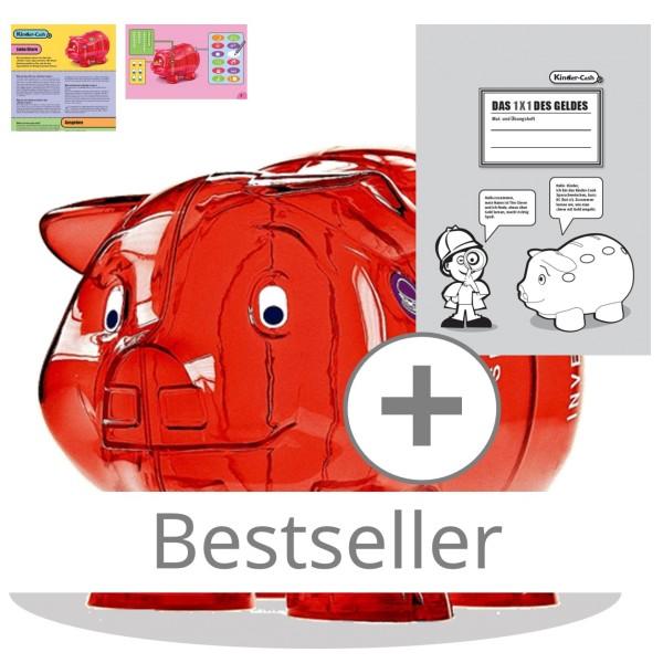 Sparschwein Paket mit Malheft, Elternanleitung