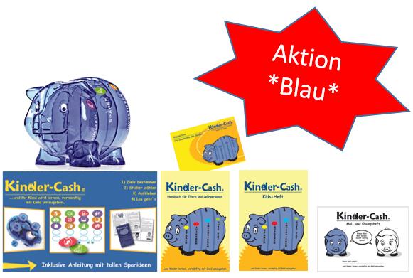 Sparschwein blau D + Geldkurs für Kinder