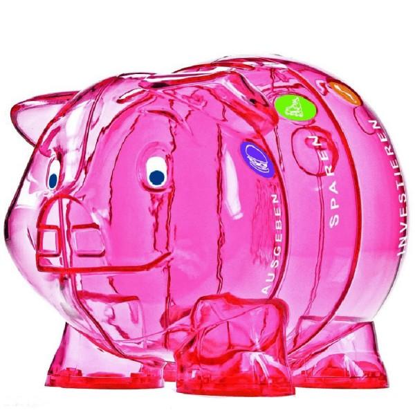 Das schlauste Sparschwein der Welt in süssem pink